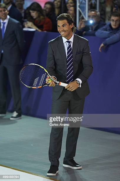 Spanish tennis player Rafael Nadal is presented as the new Ambassador of Tommy Hilfiger at the Cibeles Palace on December 1 2015 in Madrid Spain