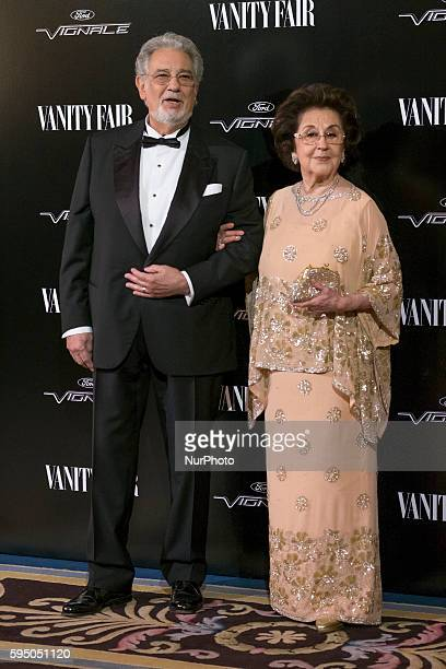 Spanish tenor Placido Domingo and wife Marta Ornelas attend the quotVanity Fair Personality Of The Yearquot Gala at the Hotel Ritz on November 16...