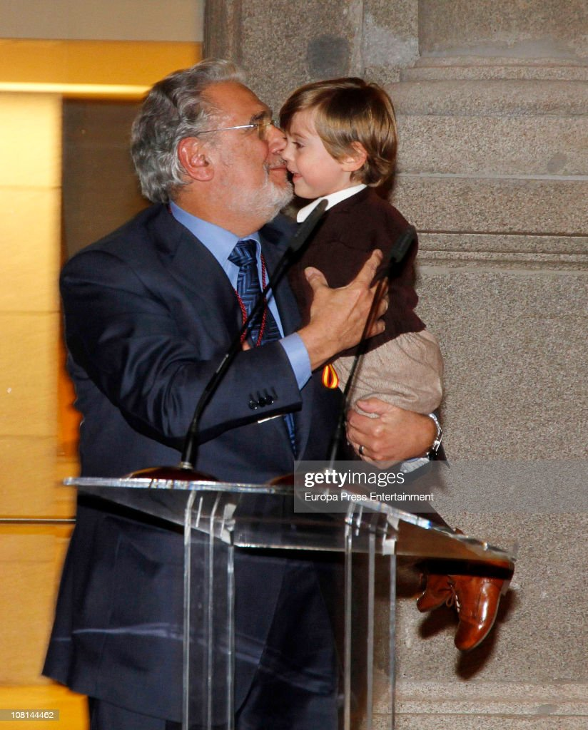 Tenor Placido Domingo Receives Order Of Arts And Letters : News Photo
