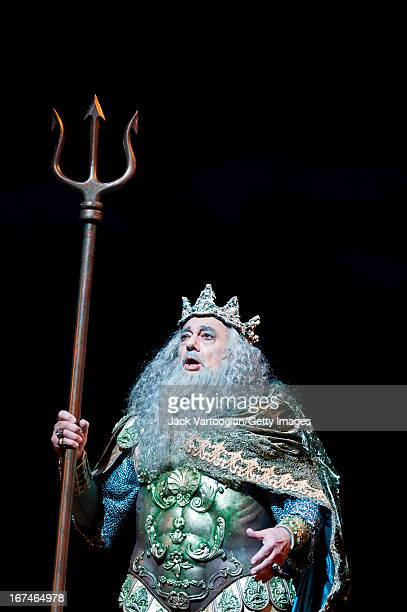 Spanish tenor Placido Domingo performs during the final dress rehearsal of the Metropolitan Opera/Phelim McDermott production of Jeremy Sams' 'The...