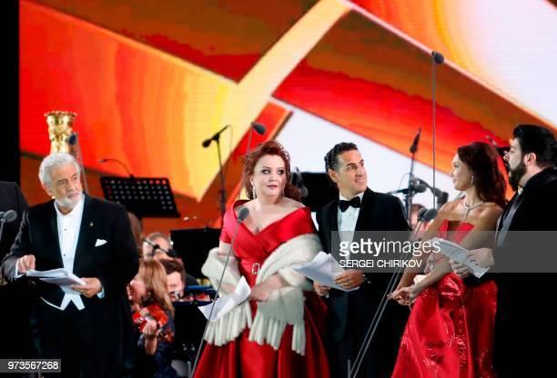 Spanish tenor Placido Domingo Russian coloratura soprano Albina Shagimuratova Peruvian tenor Juan Diego Florez Russian soprano Aida Garifullina and...