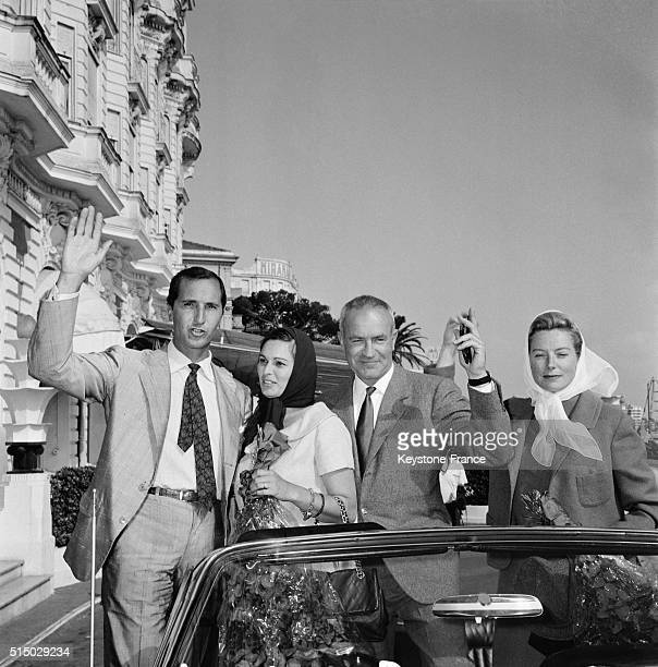 Spanish Toreador Luis Miguel Dominguin With Wife Actress Lucia Bose And Actors Peter Viertel And Deborah Kerr At the XVth Cannes Film Festival in...