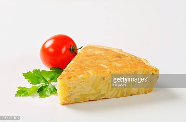 spanish tortilla slice - tortilla flatbread stock photos and pictures