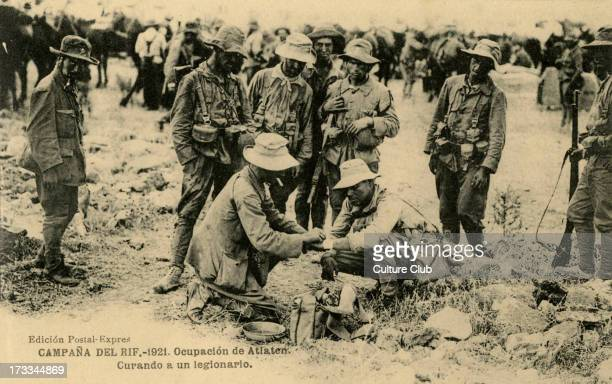 Spanish troops at a medical station in Morocco 1921 Spanish forces suffered heavy losses in skirmishes with Berber tribes in the early years of the...