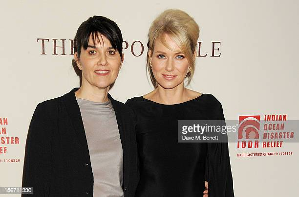 Spanish tsunami survivor Maria Belon and actress Naomi Watts attend the UK charity premiere of 'The Impossible' at BFI IMAX on November 19 2012 in...