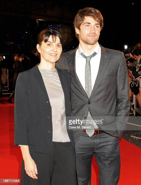 Spanish tsunami survivors Maria Belon and son Lucas Belon attend the UK charity premiere of 'The Impossible' at BFI IMAX on November 19 2012 in...