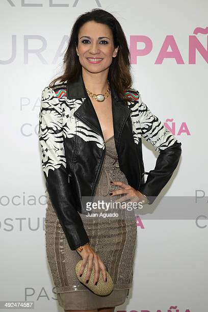 Spanish TV Journalist Silvia Jato performs in 'Costura Espana' Fashion Show on May 20 2014 in Madrid Spain