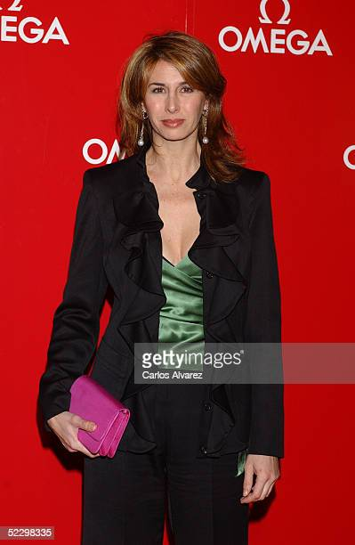 Spanish TV newscaster Ana Garcia Sineriz attends a private dinner for the new Omega jewelry collection this afternoon at the Las Ventas Bullring on...