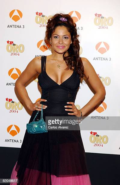 Spanish TV personality Patricia Perez attends the TP Magazine Awards at the Palacio de Congresos on January 22 2005 in Madrid Spain