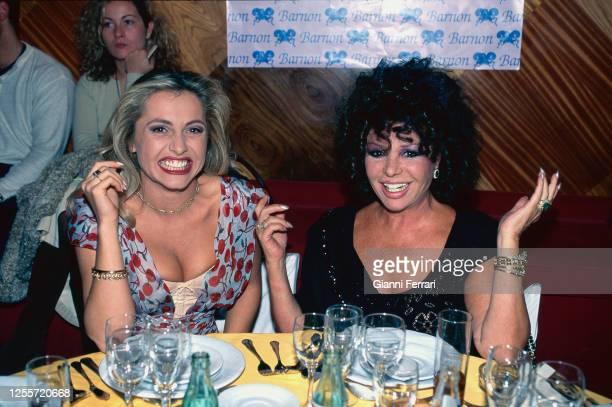 Spanish TV presenter Cristina Tarrega and actress Marujita Diaz Madrid Spain 1993