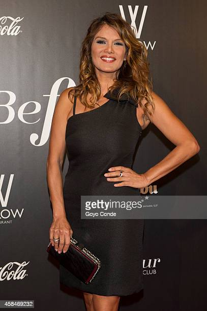 Spanish TV presenter Ivonne Reyes attend photocall in the inauguration of the Club Welow Beofour on November 5 2014 in Madrid Spain