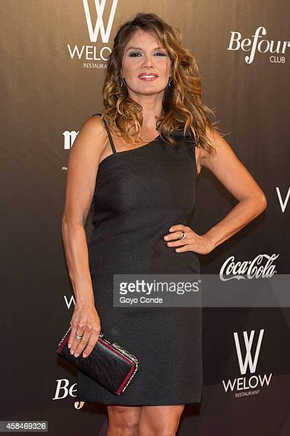 Spanish TV presenter Ivonne Reyes attend photocall in the inauguration of the Club Welow & Beofour on November 5, 2014 in Madrid, Spain.