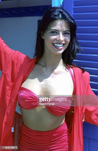 Spanish TV presenter Natalia Estrada Rimini Italy 1993