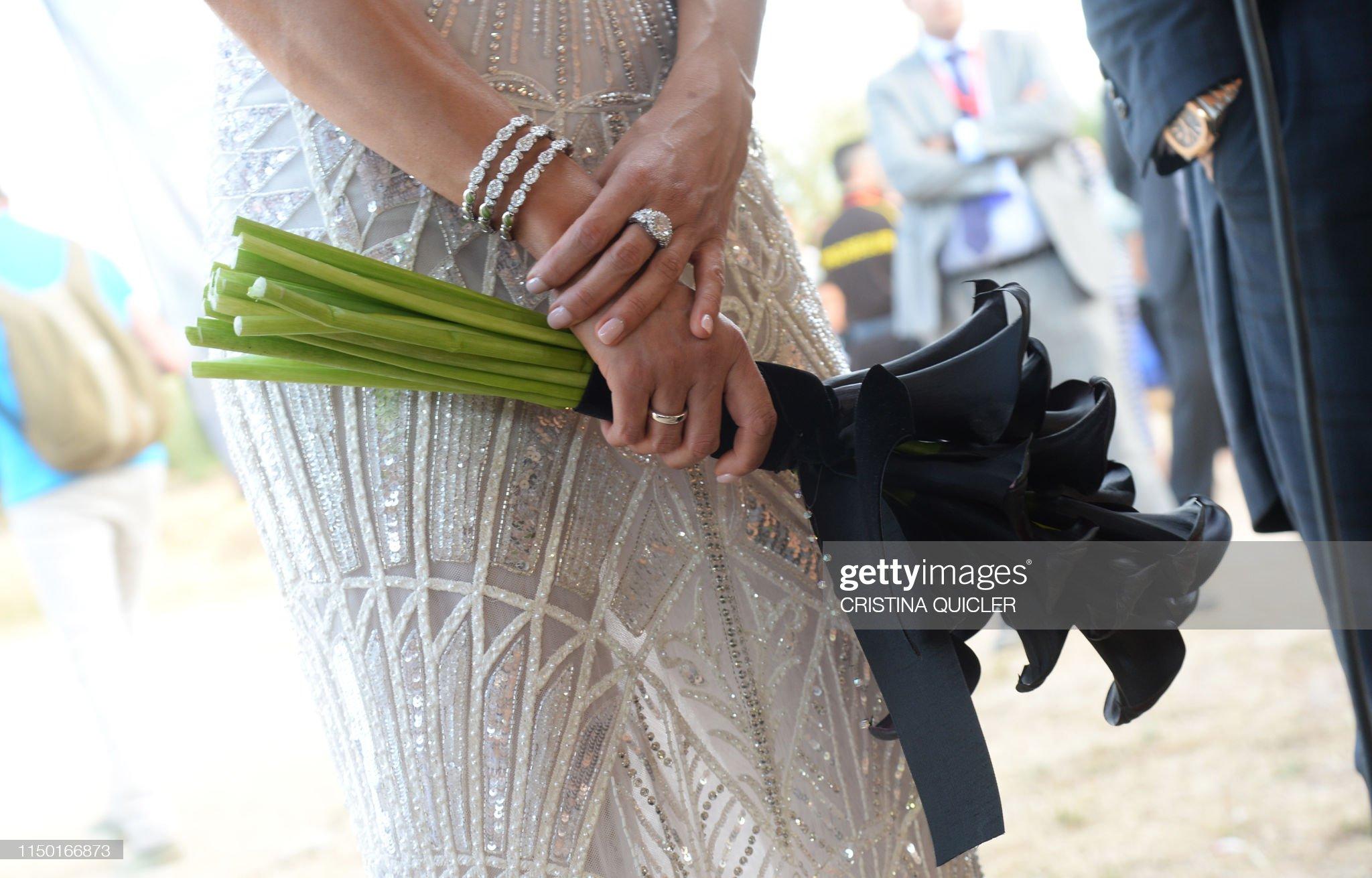 SPAIN-FBL-PEOPLE-WEDDING : Foto di attualità