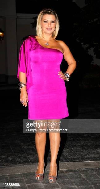 Spanish Tv presenter Terelu Campos celebrates her birthday on September 3 2011 in Madrid Spain