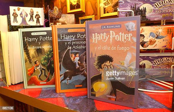 Spanish versions of the Harry Potter books are on display at the Scholastic Store November 16 2001 in New York NY The movie Harry Potter And The...