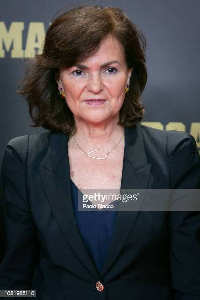 Spanish Vicepresident Carmen Calvo attends the 80th anniversary of Marca newspaper at Real Theatre on December 13 2018 in Madrid Spain