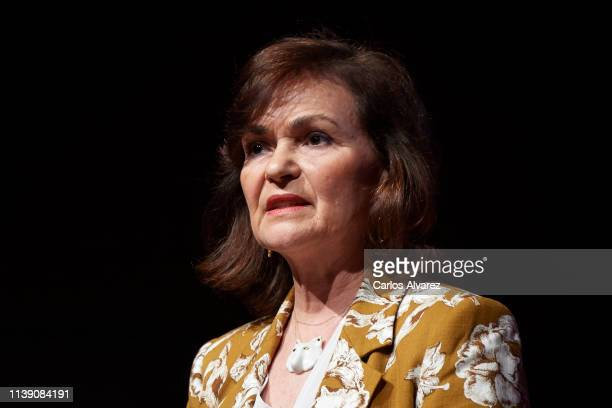 Spanish Vicepresident Carmen Calvo attends WomenNOW Summit by Santander Bank at the Reina Sofia Museum on March 29 2019 in Madrid Spain