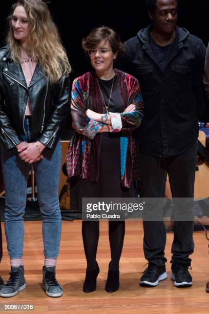 Spanish vicePresident of the Government and Minister of the Presidency and of the Regional Administrations Soraya Saenz de Santamaria attends the...