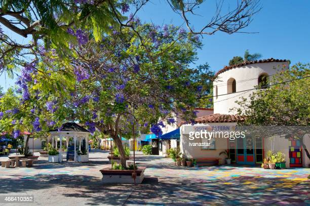 spanish village art center, san diego - balboa park stock photos and pictures