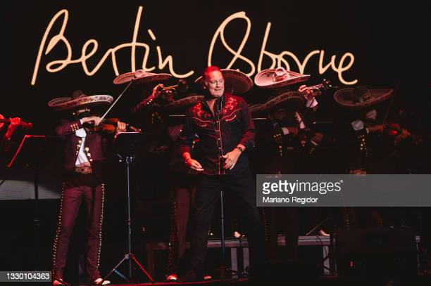 Spanish vocalist, actor and TV personality Bertin Osborne performs in concert during Gold Music by Carola Morena at Warner Music Station Principe Pio...