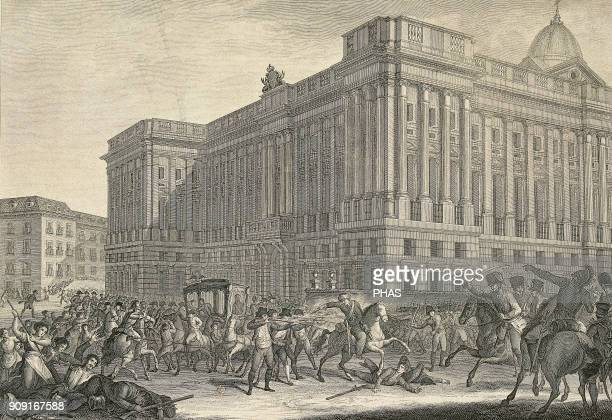 Spanish War of Independence Fought by France against Spain Uprising of the citizens of Madrid on 2nd May 1808 in front of the Royal Palace Murat...