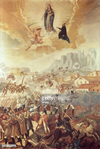 Spanish War of Independence Painting copy of one of the wall painting from the farmhouse Les Farreres It belongs to a series of paintings about the...