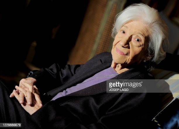 Spanish writer Ana Maria Matute delivers her speech after receiving the Literature Premio Cervantes award in Barcelona on November 24, 2010. Spanish...