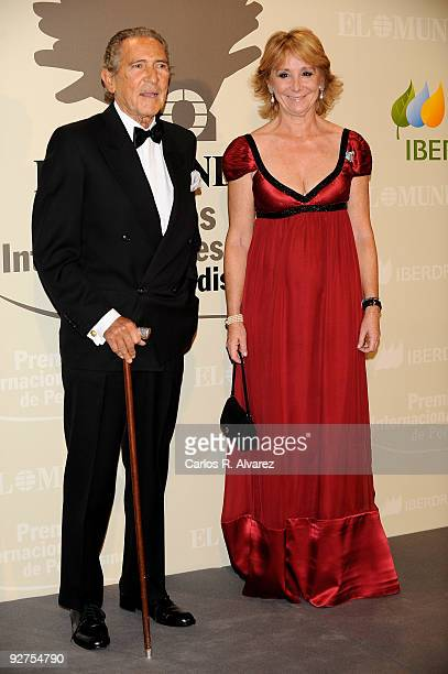 Spanish writer Antonio Gala and Madrid Regional President Esperanza Aguirre attend the ''El Mundo'' newspaper's 20th anniversary dinner at the Palace...