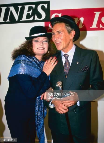 Spanish writer Antonio Gala and Spanish singer Rocio Jurado Madrid Spain 1999