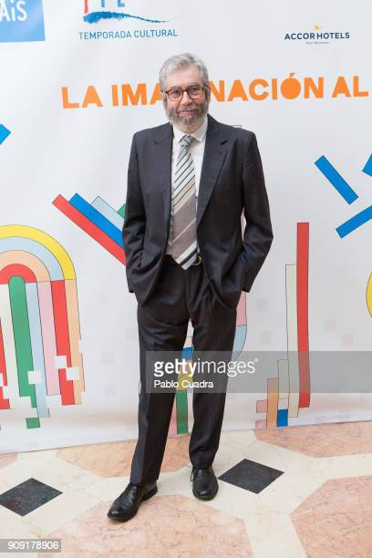 Spanish writer Antonio Munoz Molina presents TIFE 2018 at the French embassy on January 23 2018 in Madrid Spain