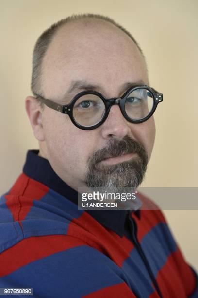 Spanish writer Carlos Ruiz Zafon session portrait on January 30 2013 in Barcelona Spain