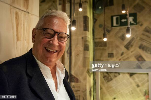 Spanish writer Fernando Delgado poses for a portrait session before the presentation to the literary critics of his book 'Mirador de Velintonia' at...