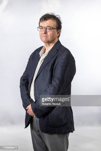 Spanish writer Javier Cercas attends a photocall during the Edinburgh International Book Festival 2019 on August 24 2019 in Edinburgh Scotland