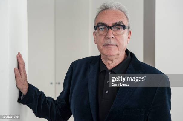 Spanish writer Juan Jose Millas poses for a portrait session after the press conference for his book 'Mi verdadera historia' at Las Letras Hotel on...