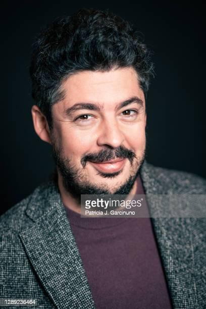 Spanish writer, producer, editor and director Fernando González Gómez poses during a portrait session after 'Estandar' film presentation at Cine...