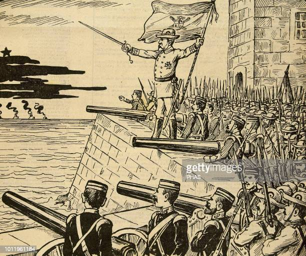 SpanishAmerican War between Spain and the USA in 1898 due to the US intervention in the Cuban War of Independence Cuba 'From El Morro of Havana'...