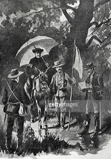SpanishAmerican War between Spain and the USA in 1898 due to the US intervention in the Cuban War of Independence The first flag of truce after the...