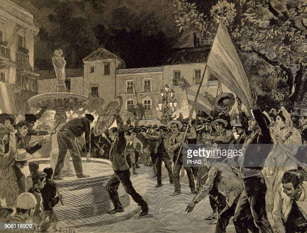 SpanishAmerican War between Spain and the USA in 1898 due to the US intervention in the Cuban War of Independence Protests in the city of Seville...