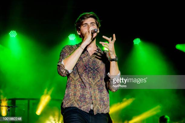 SpanishGerman singer Álvaro Tauchert performs at Marostica Summer Festival on 18 Luglio 2018 in Marostica Italy