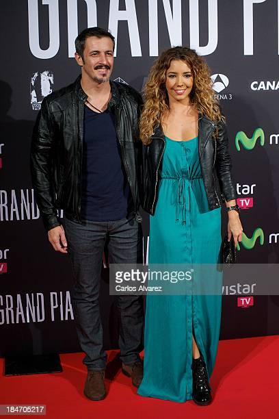 Spanishs actors Sandra Cervera y Fernando Coronado attend 'Grand Piano' premiere at the Callao cinema on October 15 2013 in Madrid Spain