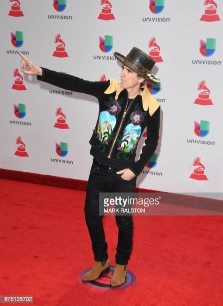 SpanishVenezuelan musician Mikel Erentxun arrives for the 18th Annual Latin Grammy Awards in Las Vegas Nevada on November 16 2017 / AFP PHOTO / Mark...