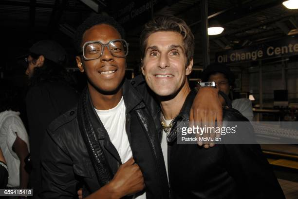 Spank Rock and Perry Farrell attend ALEXANDER WANG After Party at The Gas Station at Milk Studios on September 12 2009 in New York City