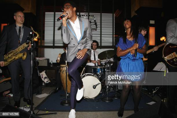 Spank Rock Santigold and the DapKings attend TOPSHOP TOPMAN HOSTS PRIVATE DINNER TO CELEBRATE FLAGSHIP STORE OPENING at Balthazar on March 31 2009 in...