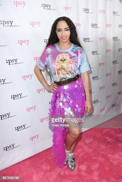 Spankie Valentine attends ipsy Gen Beauty at the Los Angeles Convention Center on March 24 2018 in Los Angeles California