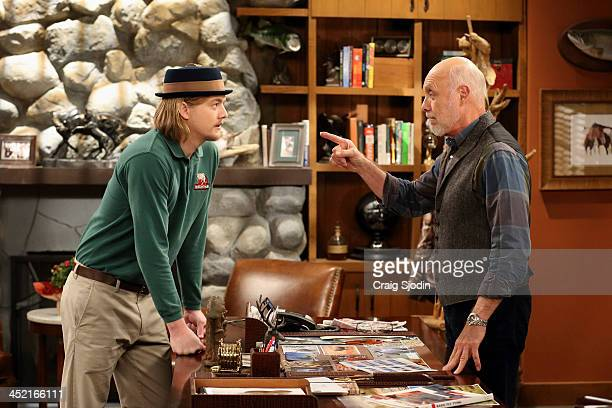 STANDING 'Spanking' After giving his greatgrandson Boyd a spanking Bud is surprised that Mike agrees with Kristen and Ryan about not using that style...