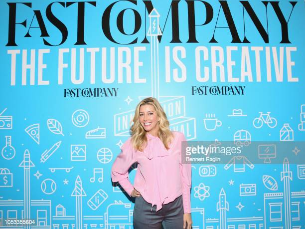 Spanx Founder Sara Blakely attends View From the Top: Leadership and Values in Uncertain Times during day 3 of Fast Company Innovation Festival at...