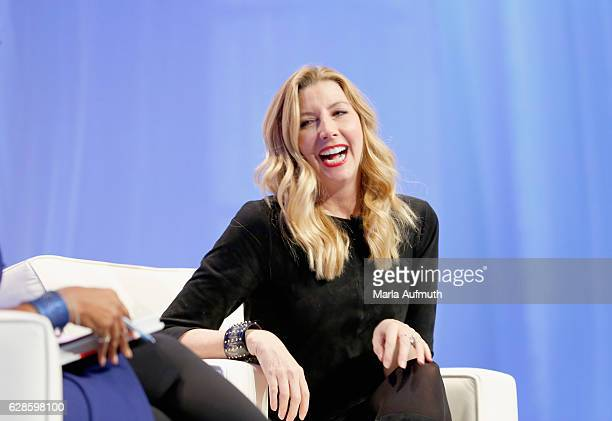 Spanx founder Sara Blakely speaks onstage during the Massachusetts Conference for Women at Boston Convention & Exhibition Center on December 8, 2016...