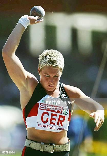 Spar Europa Cup 2003 Florenz Kugelstossen/Frauen Siegerin Astrid KUMBERNUSS/GER