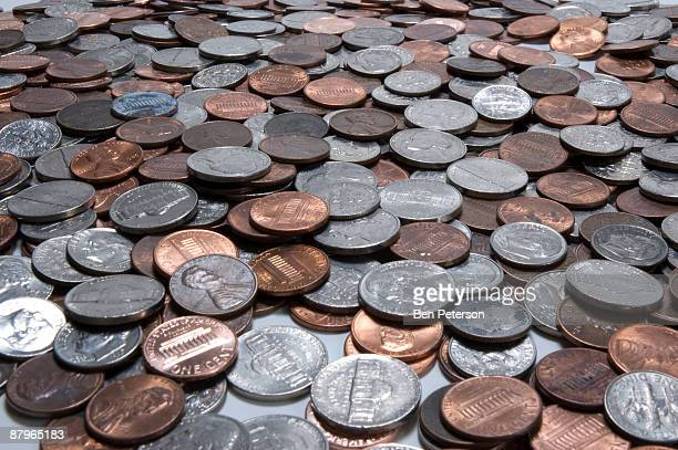 spare change - us coin stock pictures, royalty-free photos & images
